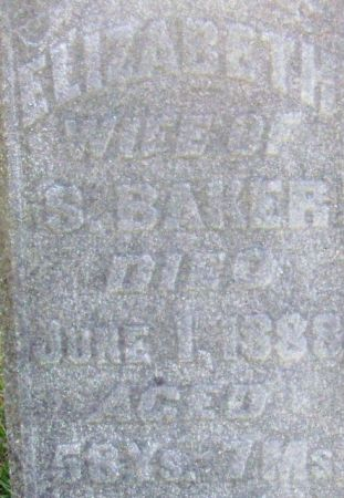 BAKER, ELIZABETH - Poweshiek County, Iowa | ELIZABETH BAKER
