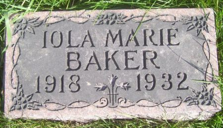 BAKER, IOLA MARIE - Poweshiek County, Iowa | IOLA MARIE BAKER