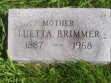 BRIMMER, LUETTA - Poweshiek County, Iowa | LUETTA BRIMMER