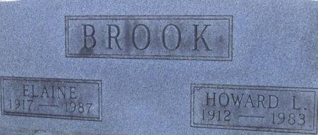 BROOK, HOWARD L. - Poweshiek County, Iowa   HOWARD L. BROOK