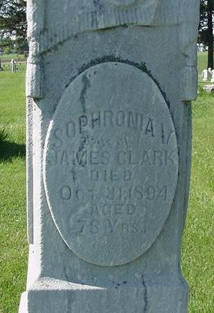 CLARK, SOPHRONIA - Poweshiek County, Iowa | SOPHRONIA CLARK