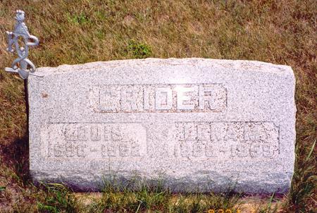 CRIDER, LOUIS - Poweshiek County, Iowa | LOUIS CRIDER