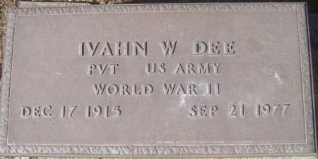 DEE, IVAHN W. - Poweshiek County, Iowa   IVAHN W. DEE