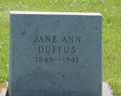 DUFFUS, JANE ANN - Poweshiek County, Iowa | JANE ANN DUFFUS