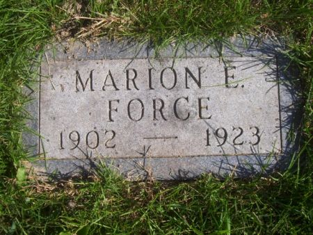 FORCE, MARION E. - Poweshiek County, Iowa | MARION E. FORCE