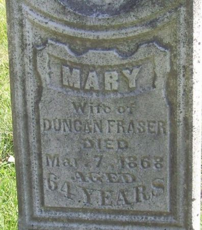 FRASER, MARY - Poweshiek County, Iowa   MARY FRASER
