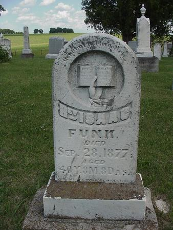 FUNK, ISAAC - Poweshiek County, Iowa   ISAAC FUNK