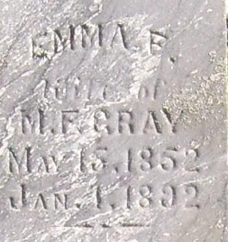 GRAY, EMMA F. - Poweshiek County, Iowa | EMMA F. GRAY