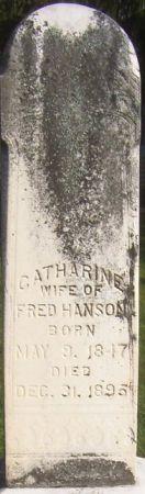 HANSON, CATHERINE - Poweshiek County, Iowa   CATHERINE HANSON