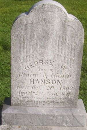 HANSON, GEORGE W. - Poweshiek County, Iowa | GEORGE W. HANSON