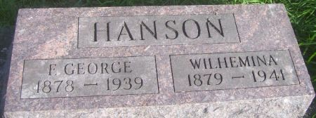 HANSON, F. GEORGE - Poweshiek County, Iowa | F. GEORGE HANSON