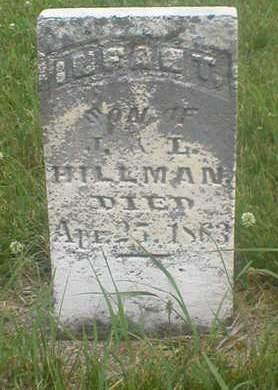 HILLMAN, INFANT SON - Poweshiek County, Iowa | INFANT SON HILLMAN