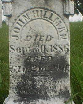 HILLMAN, JOHN - Poweshiek County, Iowa   JOHN HILLMAN