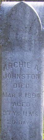JOHNSTON, ARCHIE  A. - Poweshiek County, Iowa | ARCHIE  A. JOHNSTON