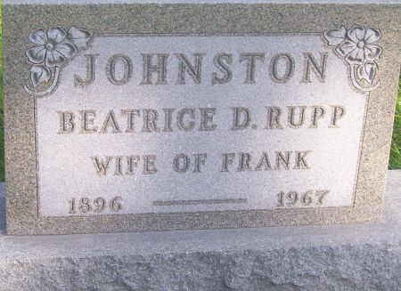 RUPP JOHNSTON, BEATRICE D. - Poweshiek County, Iowa | BEATRICE D. RUPP JOHNSTON