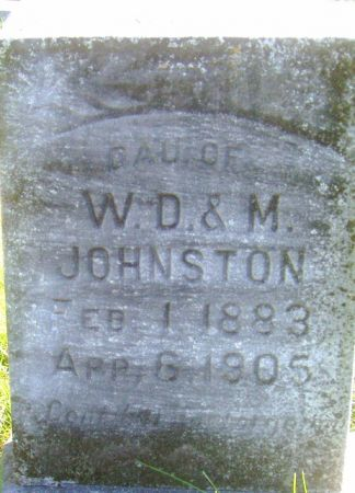 JOHNSTON, MARTHA E. - Poweshiek County, Iowa | MARTHA E. JOHNSTON
