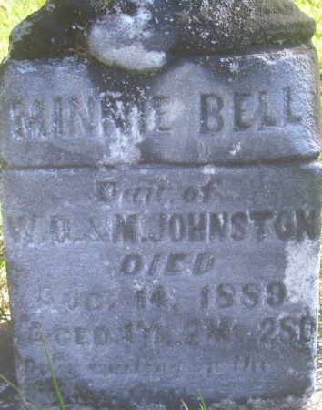 JOHNSTON, MINNIE BELL - Poweshiek County, Iowa | MINNIE BELL JOHNSTON