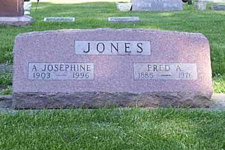 ZOLLINGER JONES, A. JOSEPHINE - Poweshiek County, Iowa | A. JOSEPHINE ZOLLINGER JONES