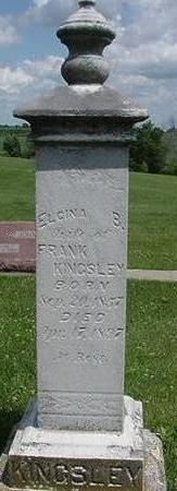 KINGSLEY, ELCINA - Poweshiek County, Iowa | ELCINA KINGSLEY