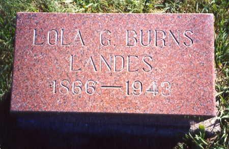 BURNS LANDES, LOLA GLIDE - Poweshiek County, Iowa | LOLA GLIDE BURNS LANDES