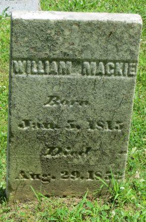 MACKIE, WILLIAM - Poweshiek County, Iowa | WILLIAM MACKIE