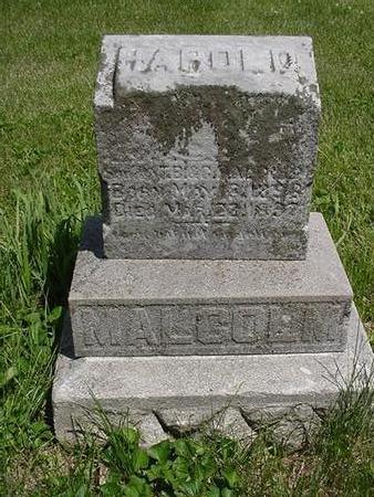 MALCOLM, HAROLD - Poweshiek County, Iowa | HAROLD MALCOLM