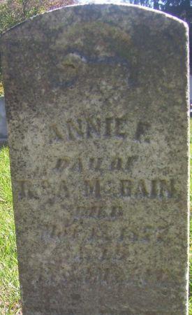MCBAIN, ANNIE F. - Poweshiek County, Iowa   ANNIE F. MCBAIN