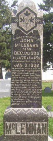 MCLENNAN, JOHN - Poweshiek County, Iowa | JOHN MCLENNAN