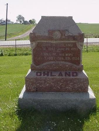OHLAND, JOHN - Poweshiek County, Iowa | JOHN OHLAND