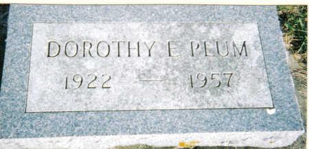 PLUM, DOROTHY - Poweshiek County, Iowa | DOROTHY PLUM