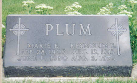 PLUM, REYNOLDS E - Poweshiek County, Iowa | REYNOLDS E PLUM