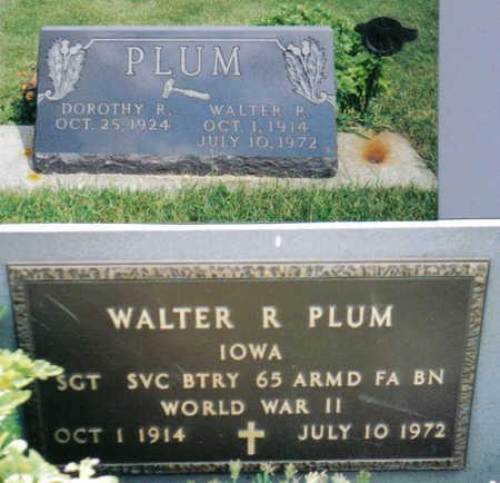 PLUM, WALTER R - Poweshiek County, Iowa | WALTER R PLUM