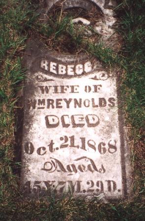 TAWN REYNOLDS, REBECCA - Poweshiek County, Iowa | REBECCA TAWN REYNOLDS