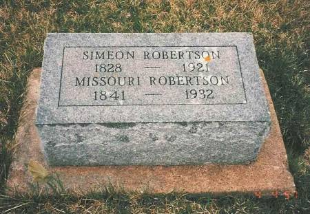ROBERTSON, SIMEON & MISSOURI - Poweshiek County, Iowa | SIMEON & MISSOURI ROBERTSON