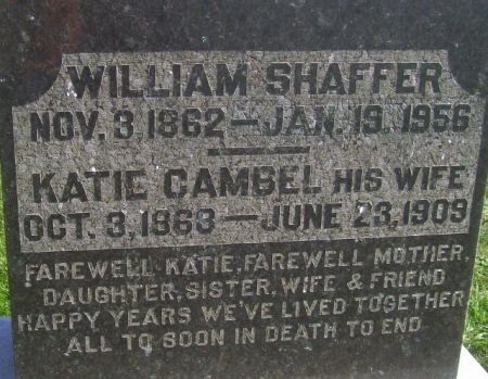 SHAFFER, WILLIAM - Poweshiek County, Iowa | WILLIAM SHAFFER