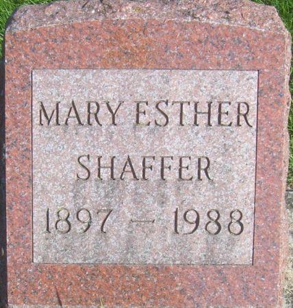 SHAFFER, MARY ESTHER - Poweshiek County, Iowa | MARY ESTHER SHAFFER