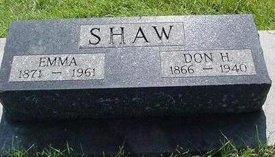 SHAW, EMMA - Poweshiek County, Iowa | EMMA SHAW
