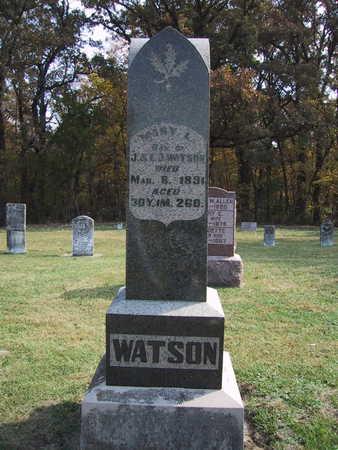WATSON, MARY L. - Poweshiek County, Iowa   MARY L. WATSON