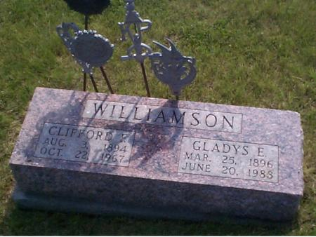 WILLIAMSON, GLADYS E. - Poweshiek County, Iowa   GLADYS E. WILLIAMSON