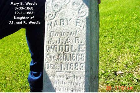 WOODLE, MARY E. - Poweshiek County, Iowa | MARY E. WOODLE