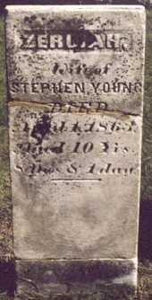YOUNG, ZERUIAH (KENT) - Poweshiek County, Iowa | ZERUIAH (KENT) YOUNG