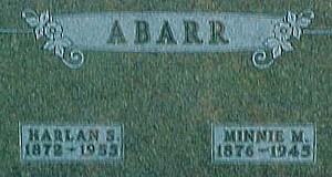 ABARR, HARLAN SAMUEL - Ringgold County, Iowa | HARLAN SAMUEL ABARR