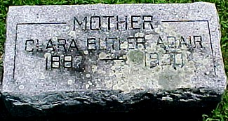 BUTLER ADAIR, CLARA - Ringgold County, Iowa | CLARA BUTLER ADAIR