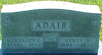 GALLOWAY ADAIR, MARGARET ELIZABETH - Ringgold County, Iowa | MARGARET ELIZABETH GALLOWAY ADAIR