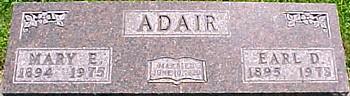 BAILEY ADAIR, MARY EMMA - Ringgold County, Iowa | MARY EMMA BAILEY ADAIR