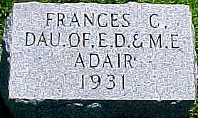 ADAIR, FRANCES CARTLAND - Ringgold County, Iowa | FRANCES CARTLAND ADAIR