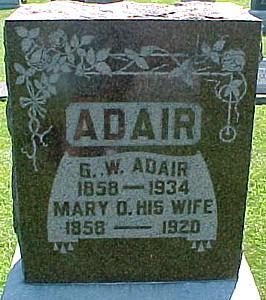 ADAIR, MARY D. - Ringgold County, Iowa   MARY D. ADAIR