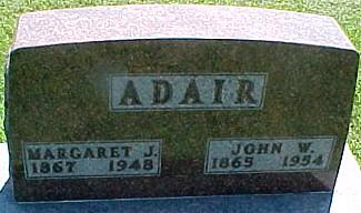 MILLER ADAIR, MARGARET JANE