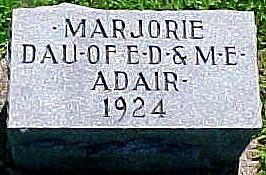ADAIR, MARJORIE LOUISE - Ringgold County, Iowa   MARJORIE LOUISE ADAIR