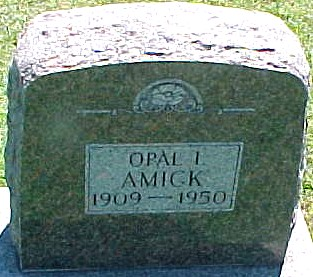 AMICK, OPAL I. - Ringgold County, Iowa   OPAL I. AMICK